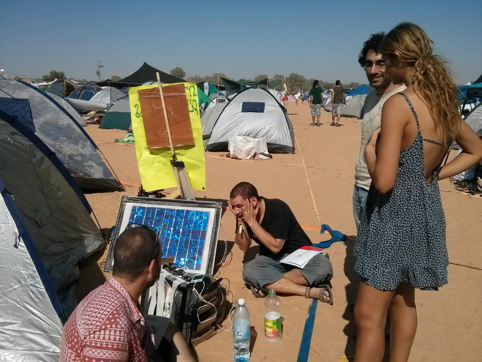 solar phone charging station - In the festival