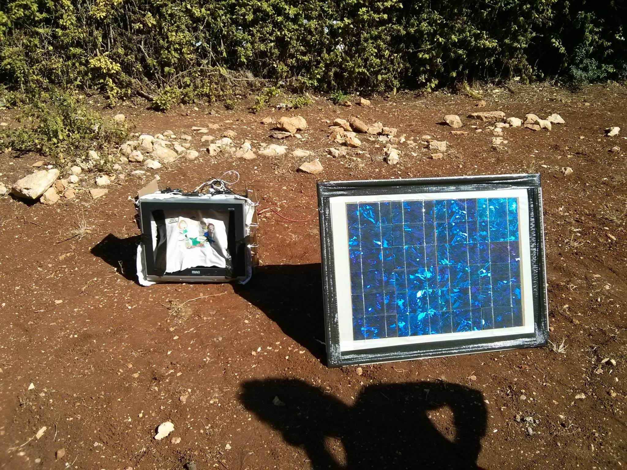 solar phone charging station - First time working