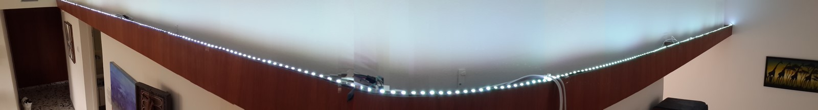 Led strip panorama picture