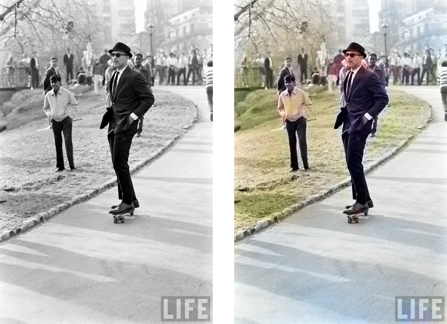 Colorized old photo Deep neural network example3