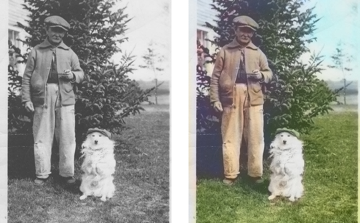 Colorized old photo Deep neural network example2