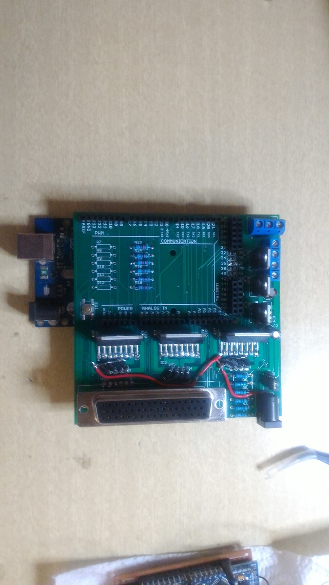 Scorbot Arduino Mega shield PCB Eagle design real