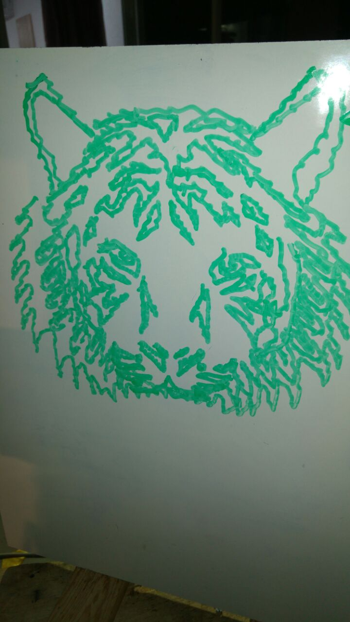 Scorbot Lion drawing